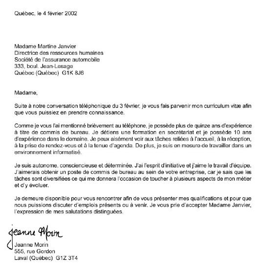 lettre de presentation 1
